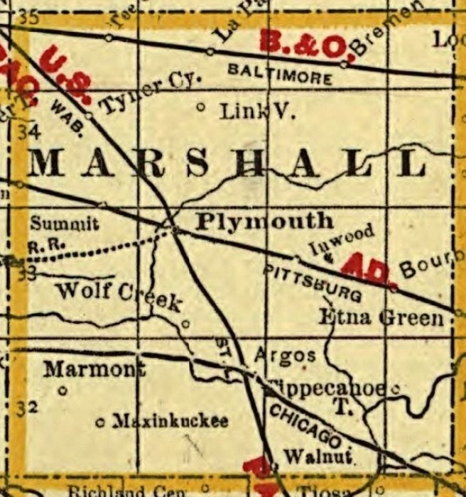1888 Map History And Genealogy Of Lake Maxinkuckee